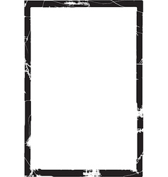 Thick grunge frame vector