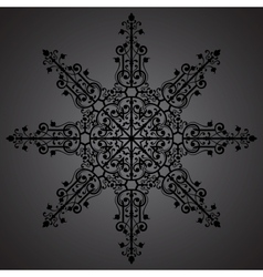 Vintage background ornament black star vector