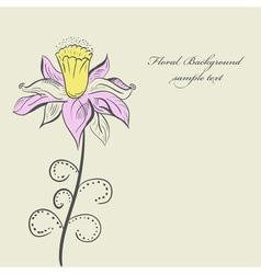 Vintage Flower background vector image vector image