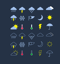 weather flat icon vector image vector image