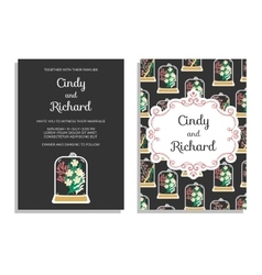 Wedding invitation save the date cards vector