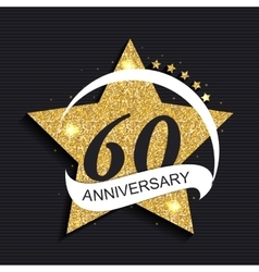 Template logo 60 anniversary vector
