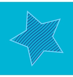 One star with strips sign pattern vector