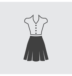 Blouse and skirt icon vector