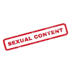Sexual content rubber stamp vector