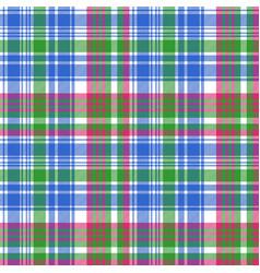 Green blue check tartan plaid seamless pattern vector