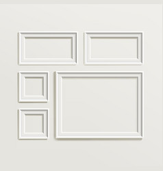 blank picture frame template composition set vector image