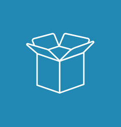 Carton opened package box icon vector