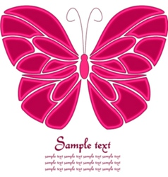 Pink and white butterfly background vector