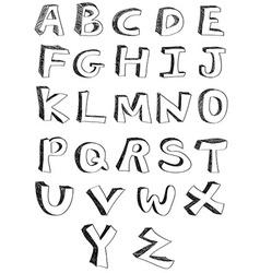hand written alphabets vector image