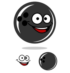 Bowling ball with a happy smile vector