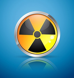 Nuclear radiation sign vector
