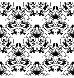 Elegant damask white seamless background vector