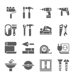 Home repair and tools icons vector