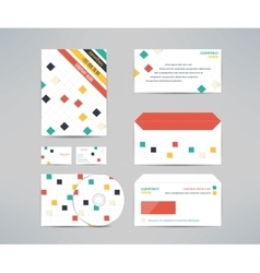 Corporate identity business kit with cd dvd vector
