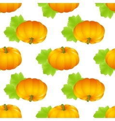 Pumpkin seamless isolated vector