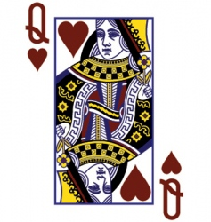 queenof hearts vector image