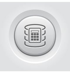 Secure database icon vector