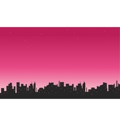 Silhouette of city and sky beautiful vector