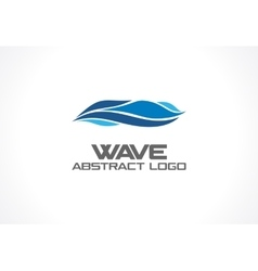 Abstract logo for business company Eco ocean vector image vector image