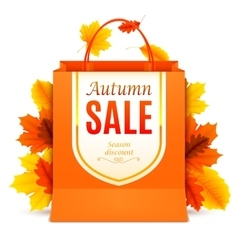 Autumn Sale Shopping Bag vector image vector image