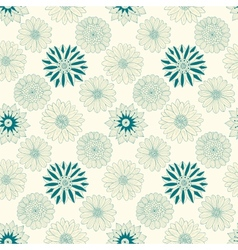 Beautiful line flowers vector image vector image