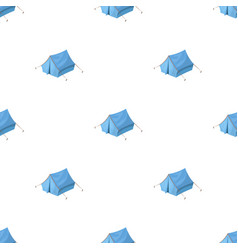 Blue tent with pegshippy single icon in cartoon vector