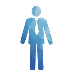 businessman web icon vector image