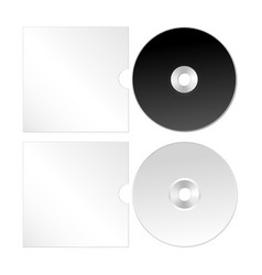 cd dvd isolated icon compact disc realistic set vector image