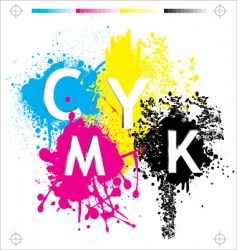 CMYK elements vector image