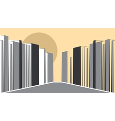 contemporary urban landscape vector image