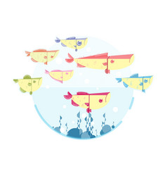 cute many fish vector image