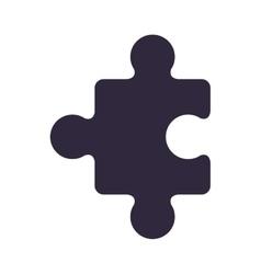 Dark blue piece of puzzles vector