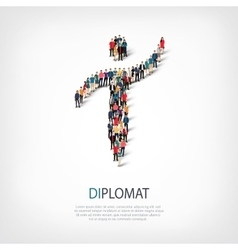 diplomat people symbol vector image