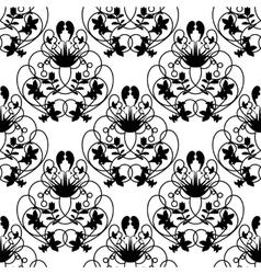 Elegant damask white seamless background vector image vector image