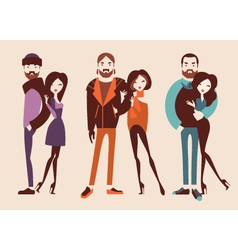 fashion people vector image vector image