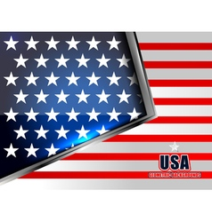 Flag of american geometric background vector