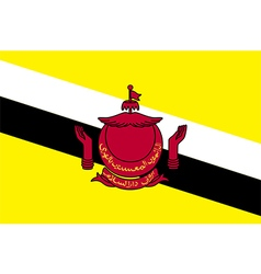Flags of brunei vector image vector image