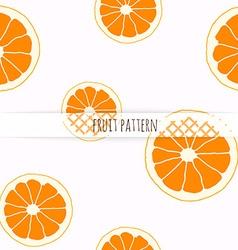 Hand drawn orange seamless pattern vector