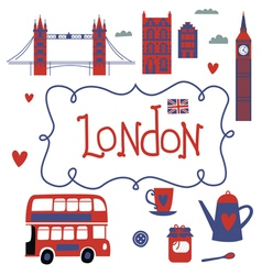 London travel set vector image vector image