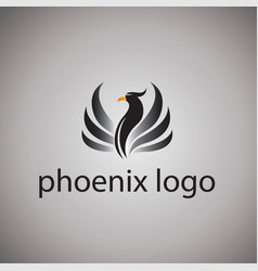 Phoenix logo ideas design vector