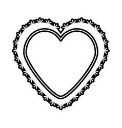 Romantic heart decoration image outline vector