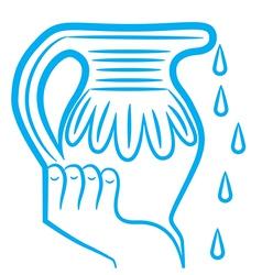 zodiac sign aquarius logo vector image vector image