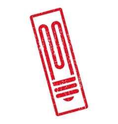 Fluorescent bulb icon rubber stamp vector