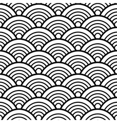 Black White Traditional Wave Japanese Chinese vector image