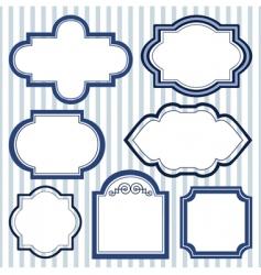 set of design frames vector image