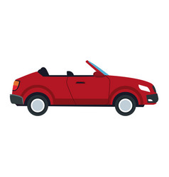 Red convertible car sport luxury elegant vehicle vector