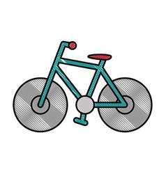 Bike sport vehicle vector