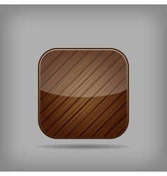 Wooden button vector