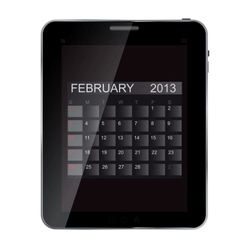 2013 year calendar on abstract design Tablet vector image